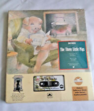 Vtg The THREE LITTLE PIGS read along Family classic audio cassette tape & book