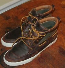 POLO Ralph Lauren TRISTEN Brown High Top Leather Sneakers Chukka Boots Mens 10D