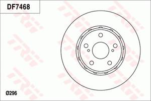 TRW Brake Rotor Front DF7468S fits Toyota Tarago 2.4 (ACR50R), 3.5 (GSR50R)