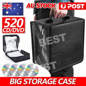 520 Capacity Disc CD DVD Case Wallet Storage Holder Booklet Album Folder Bag Box