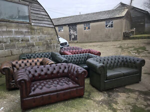 Vintage  Leather Chesterfield Sofa 2 Seater Sofas