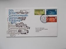 1970 Commonwealth Games First Day Cover SHS Edinburgh BCG + Insert Typed Address