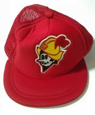 Vintage Albuquerque Dukes Hat Red Mesh Foam Baseball Cap Snapback Kids Youth