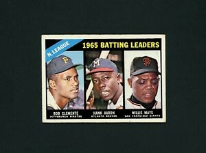 1966 Topps #215 Batting Leaders ROBERTO CLEMENTE/HANK AARON/WILLIE MAYS VG-EX/EX