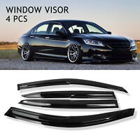 For 13-17 Honda Accord 4 Door JDM Mugen Style Wavy Sun Rain Window Visor Guard