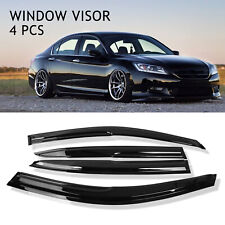For 13-17 Honda Accord 4 Door Jdm Mugen Style Wavy Sun Rain Window Visor Guard (Fits: Honda)