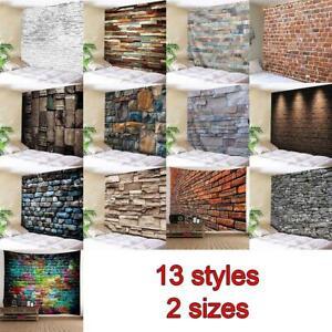 3D Brick Stone Tapestry Wall Hanging Art Room Bedspread Decor Beach Blanket x 1