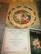 """VILLEROY & BOCH Heinrich """" ROSES ARE RED """" ONCE UPON RHYME Plate w COA &BOX"""