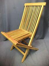 Teak Folding Chair Plantation Timbers Patio Deck Lawn