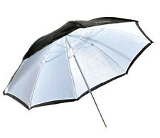 Kood Brolly 109cm / 109cm Negro / Blanco Reflectivo Flash Para Estudio Paraguas