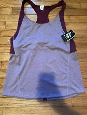 C9 Champion Tank Top Womens Burgundy Shelf Bra Sleeveless Yoga Workout XXL NWT