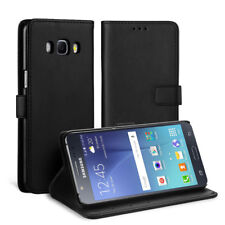 For Galaxy J5 2016 black Leather Cover Wallet Case Card Stand Holder US stock