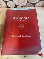 More details for vintage bakelite electrical plug / avo switches e.w.f r.a.poole catalogue  bb25