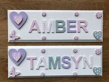 Personalised Children Bedroom Nursery Wooden Name Door Wall Sign Plaque Girl/Boy