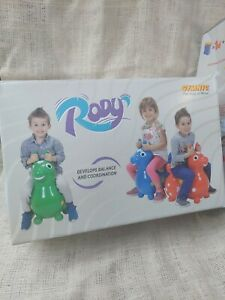 GYMNIC Rody Ride On Horse For Kids, Black Inflatable, Never Used Open Box
