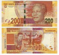 SOUTH AFRICA 200 Rand UNC Banknote (2018) P-147 Comm. Mandela Paper Money