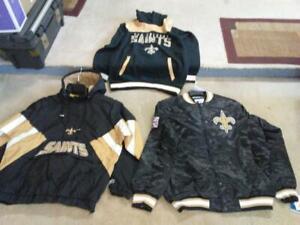 New Orleans Saints jacket,,hoodies..3 pcs..new w/tags..mens XL