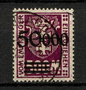 (YYAS 970) Danzig 1923 DUE USED Mich 28 Gdansk Poland Germany PORTO