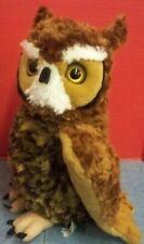 "Large Wild Republic Brand Owl Plush Toy 13"" Tall Clean Fresh Super Soft"