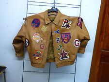 PELLE MODA LEATHER JACKET SIZE 4XL Team Patches