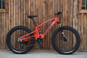 Fat Bicycle MTB 26*4.0 Tires Disc Brake Snow Bicycle 27 Speed Spoke Wheels Bike