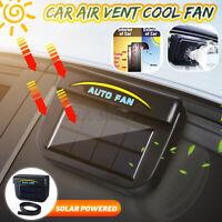 Car Window Air Vent Cooling Fan Solar Sun Powered System Cooler Radiator US ~.
