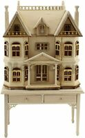 1/144 scale Miniature DollHouse House shape on 1/12 scale table Wooden unpainted