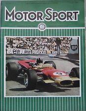 Motor Sport Magazine July 1968