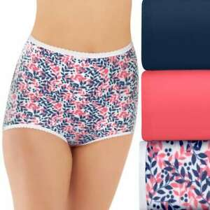 Bali Skimp Skamp 3-Pack Cotton Brief Panty DFA332 Sz.M/6,2XL/9 #114