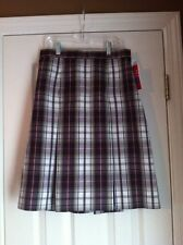 Royal Park Style 134 Skirt in Plaid Kw Khaki Wine In Teen Sizes Uniforms
