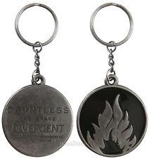 NECA Divergent Movie Dauntless Faction Metal Charm Key Ring Chain Keychain NEW
