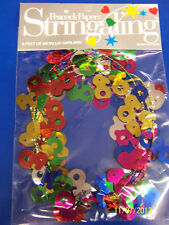 60th Birthday 60 Over the Hill Multicolor Party Decoration Foil Metallic Garland