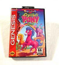 NEW SEALED Crystal's Pony Tale Sega Genesis Video Game NICE 1994 Club Game