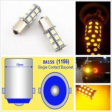 2 Pcs 18 SMD 5050 Yellow Tail Turn Signal 18 LED Car Light Bulbs Lamp 1156 BA15S