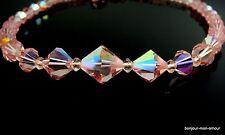1950's Rose Aurora Borealis Cristal Collier Collier chaîne, à partir de Crystal Necklace