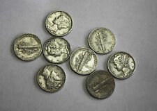 1943-p Mercury Head Dime.Average Grade of Coin You Will Receive is Photographed