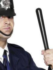 Smiffys Polizia WPC poliziotto costume Manganello Cigolio Nero Nuovo