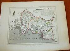 Géographie Carte votre département  illustrée Atlas national ALES 1833