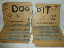 Ten Vintage Carded Doo-Dit 6 Inch Metal Fishing Multi-Tools   Lot Z-162
