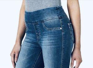 Rock & Republic Jeans Denim Slimming RX Fever Skinny Crop Cuff Sz 8 Pull On $59