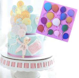 Balloon Shape Silicone Fondant Cake Mould Sugarcraft Icing Chocolate Baking Tool