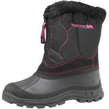 TRESPASS PRETTY LADIES GIRLS WATERPROOF THERMAL WINTER SNOW BOOTS BLACK 3-8