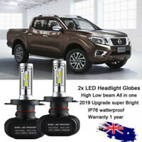 LED 9003 H4 HB2 Headlight Bulb 12-24V Globe Pure White for Toyota Nissan Volvo