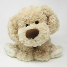 Mothercare beige fluffy large puppy dog brown soft toy plush teddy comforter 14""