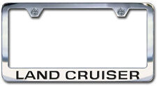 NEW Toyota Land Cruiser Chrome License Plate Frame with Engraved Block Lettering