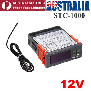 12V LCD Digital Temperature Controller Thermostat With Sensor STC-1000 kit AU