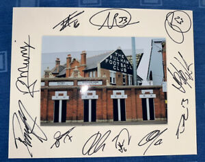 Fulham FC Hand Signed 2021/22  10x8 Photo Mount Display, COA Signed By 11 B
