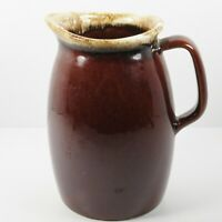 Hull Pottery Milk Jug Pitcher Oven Proof House n Garden Line Mirror Brown 32 Oz.