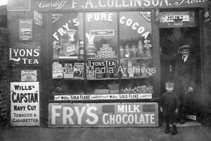 Gdn-73 Unknown Shop Front, Fry's Chocolate, Social History. Photo