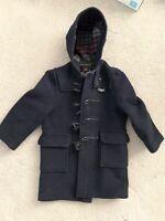 JCREW Crewcuts Gloverall Paddington Navy Wool Duffel Toggle Duffle Coat Size 6